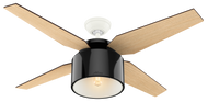 Hunter 52 Inch Remote Control Ceiling Fan Cranbrook Gloss Black 59257-OPEN BOX SPECIAL