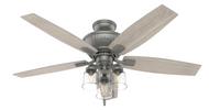 Hunter 52 Inch Ceiling Fan with Light Charlotte Matte Silver 50402