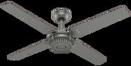 Hunter 54 Inch Ceiling Fan Chronicle Matte Silver 59236