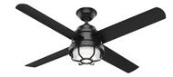 Hunter 54 Inch Ceiling Fan with Light Searow Matte Black 55086