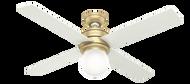 Hunter 52 Inch Ceiling Fan with Light Hepburn Modern Brass 59320