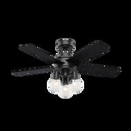 Hunter 44 Inch Remote Control Ceiling Fan Hardwick Matte Black 50593