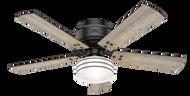 Hunter 52 Inch Remote Control Ceiling Fan Cedar Key Matte Black 55080