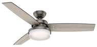 Hunter 52 Inch Remote Control Ceiling Fan Sentinel Brushed Slate 59211
