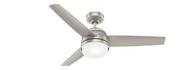 Hunter 48 Inch Remote Control Ceiling Fan Midtown Matte Nickel 54212