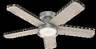 Hunter 54 Inch Remote Control Ceiling Fan Romulus Matte Silver 59483