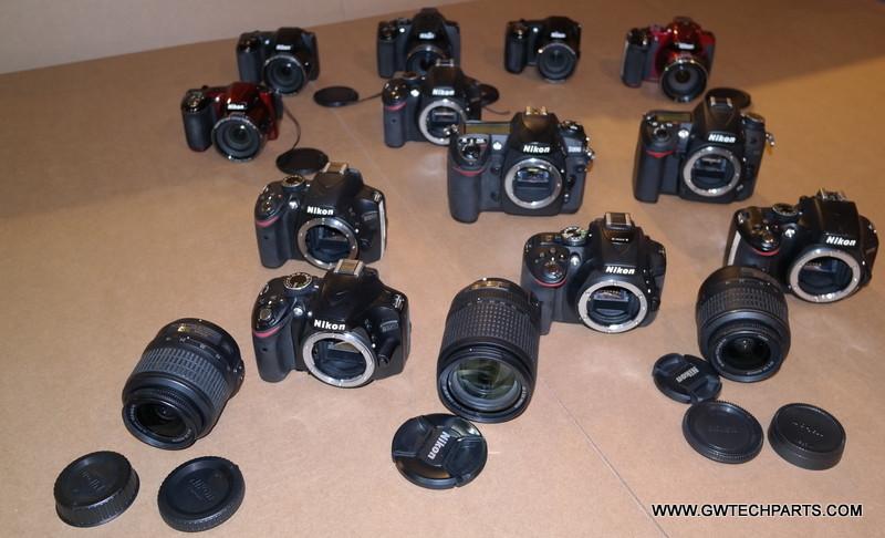 12x NIKON SLR CAMERAS -NEED FIXED -D7000/D5300/D5100/D3200 + BONUS UNITS -  PARTS ISSUES