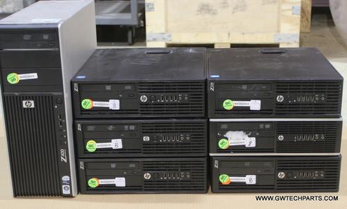 7x HP WORKSTATION COMPUTERS  Z400 / Z220 WORKSTATION - COMPAQ 6305 - XEON  QUAD / DUAL / CORE I5 -