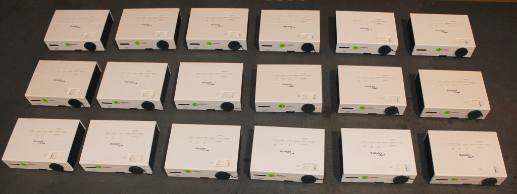 lot of 18x Optoma EX532 EX530 projectors  ISSUES