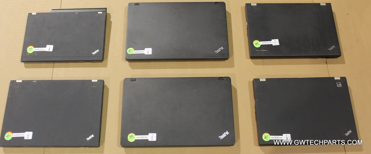 36X LENOVO CORE I-SERIES LAPTOPS -MISSING PARTS, BIOS LOCK, AND CRACK IN  PLASTIC