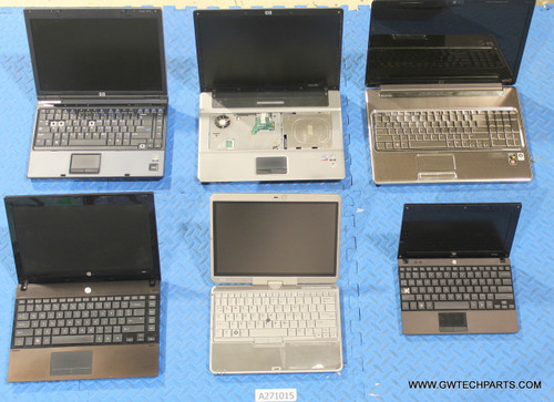 131X HP LAPTOPS WITH MISSING PART(S) / FUNCTIONALITY ISSUE
