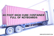 40 FOOT CONTAINER FULL OF USED COMPUTER KEYBOARDS - 16,000 PIECES - USB STYLE - BLACK COLOR - 2 CONTAINERS AVAILABLE!