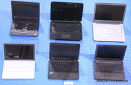 "153X MIXED BRANDS CHROMEBOOK LAPTOPS. ""C"" GRADE - MISSING PARTS / FUNCTIONALITY ISSUES"