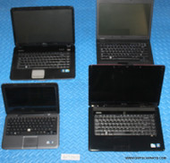 "45X DELL LAPTOPS - MIXED OLDER MODELS - GRADE ""C"" - MISSING PARTS / FUNCTION ISSUES"