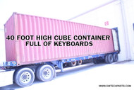 CONTAINER OF USED COMPUTER KEYBOARDS - 12,000 PIECES - USB STYLE - BLACK COLOR