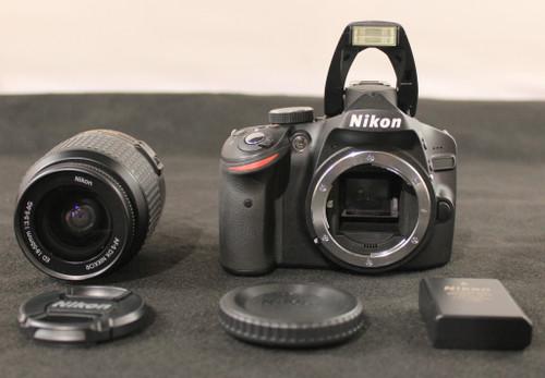 NIKON D3200 CAMERA -24 2 MP -LENS: AF-S NIKKOR ED 18-55MM 1:3 5-5 6G  -WARRANTY