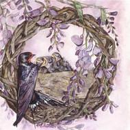 Swallows & Wisteria