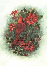Cardinal & Poinsettia
