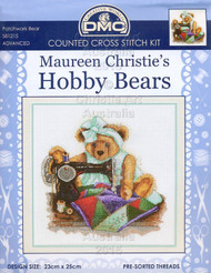 Patchwork Bear - Counted cross stitch