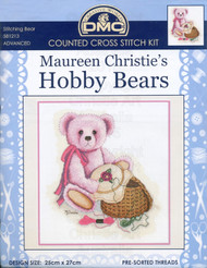 Stitching Bear - counted cross stitch