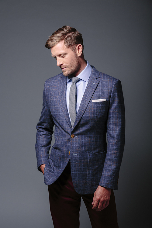 a suit jacket with the perfect length