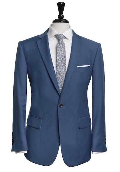 one button cobalt blue suit