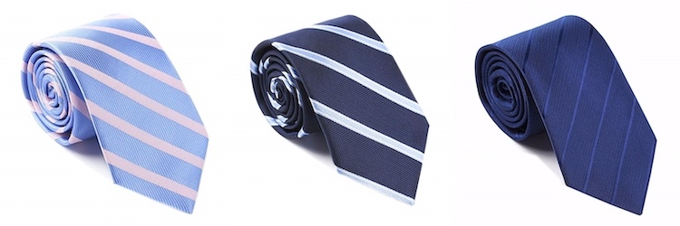 diagonally striped ties