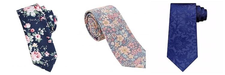 men's floral ties