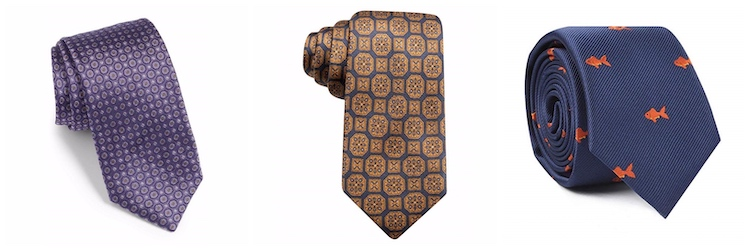 geometric micro-pattern foulard ties