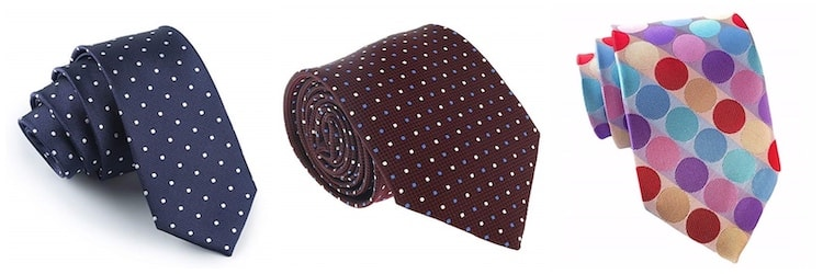 polka dot ties for business and fun
