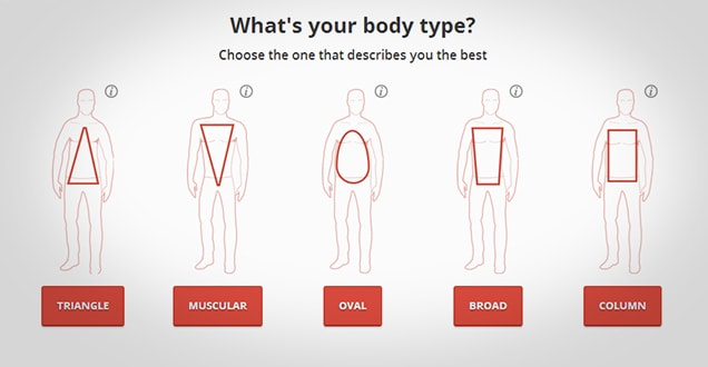 Men's body types