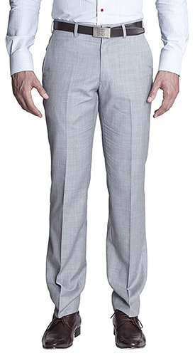 light grey flat front men's dress pants