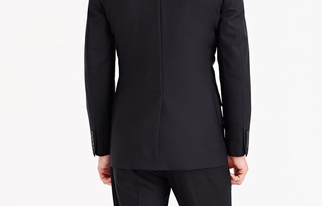 Italian style no vent suit jacket