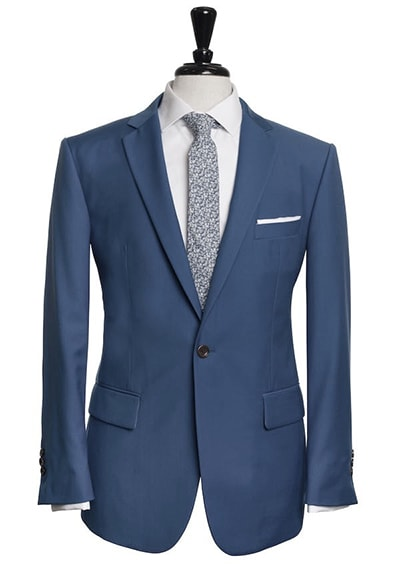 cobalt blue single-breasted suit