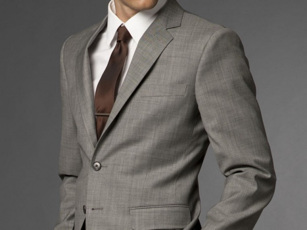 suit jacket with lapel buckling