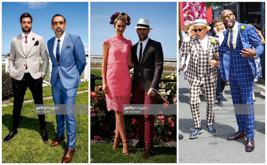 Melbourne Cup races men's fashion and outfits