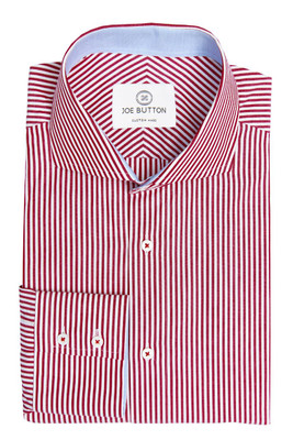 Brody Red Stripe Poplin