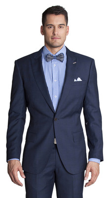 THE REDA NAVY CHECK SUIT