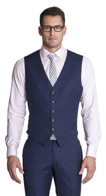 THE FITZGERALD DARK BLUE VEST
