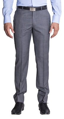 THE RANDALL GREY WINDOWPANE PANTS