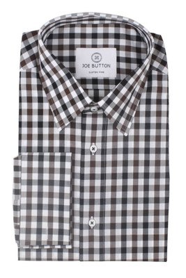 Hudson Brown and Black Large Gingham