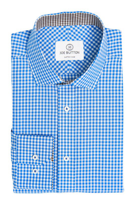 Brooklyn Light Blue Small Gingham
