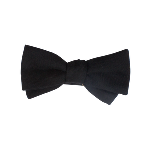 BLACK WOOL BOW TIE (SELF-TIE)