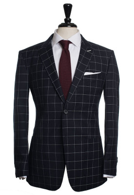 Denton Navy Windowpane Suit