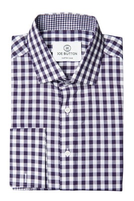 Hudson Purple Large Gingham