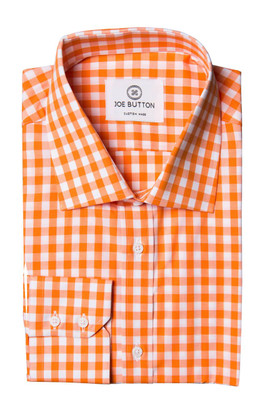 Hudson Orange Large Gingham