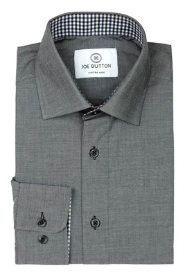 Gabriel Dark Grey Chambray