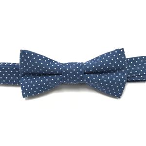 Jasper Blue Polka Dot Baby Bow Tie