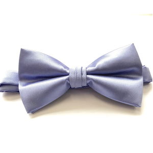 LIGHT BLUE SATIN BOW TIE (PRE-TIED)