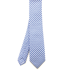 Light Blue Gingham Tie